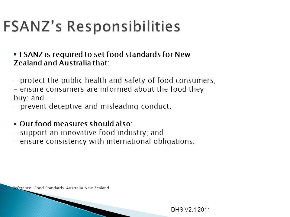 FSANZ's Responsibilities