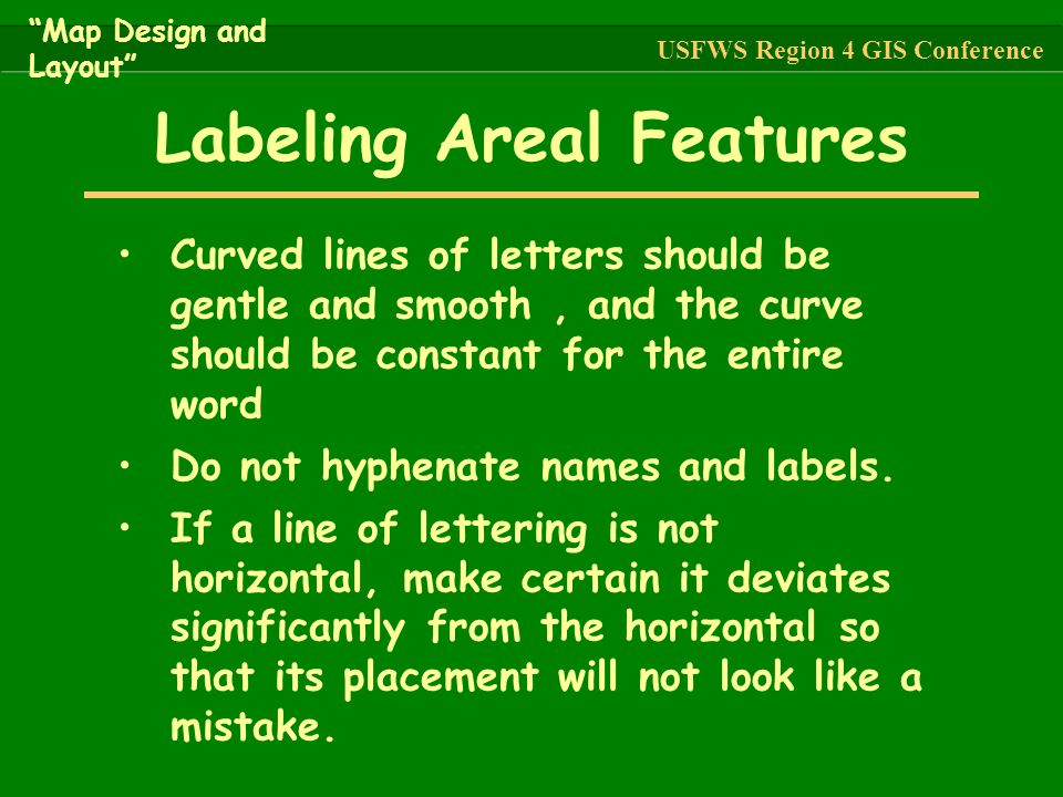 Labeling Areal Features