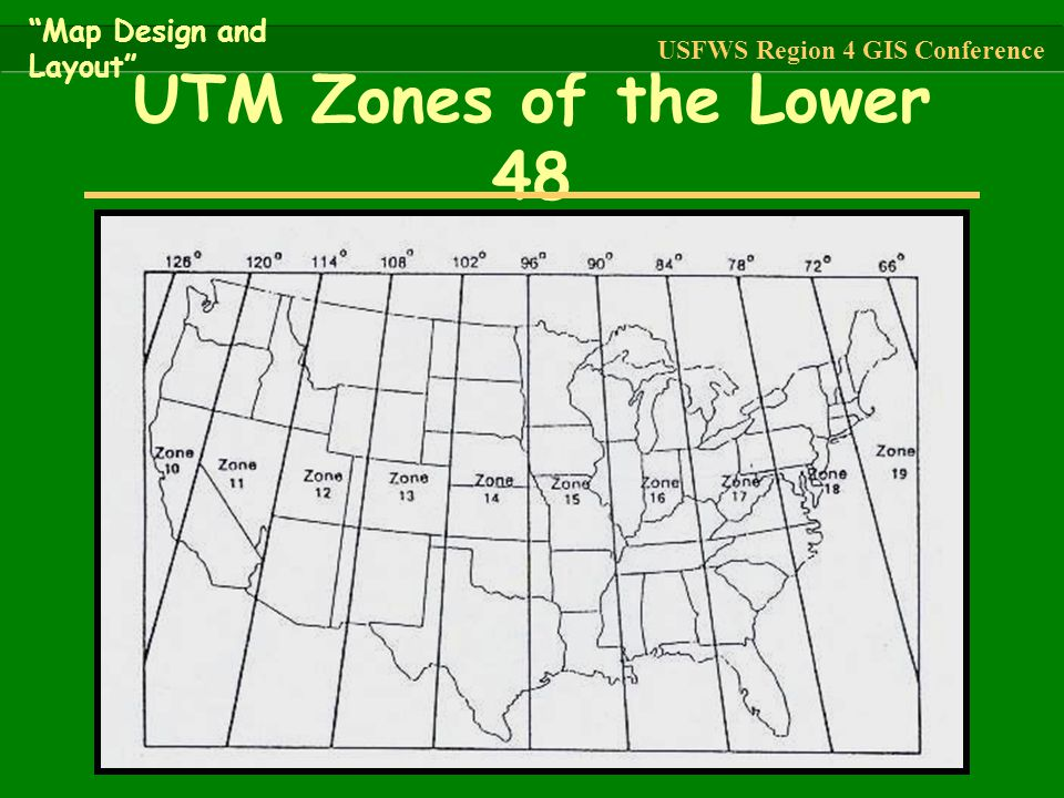 UTM Zones of the Lower 48 Map Design and Layout