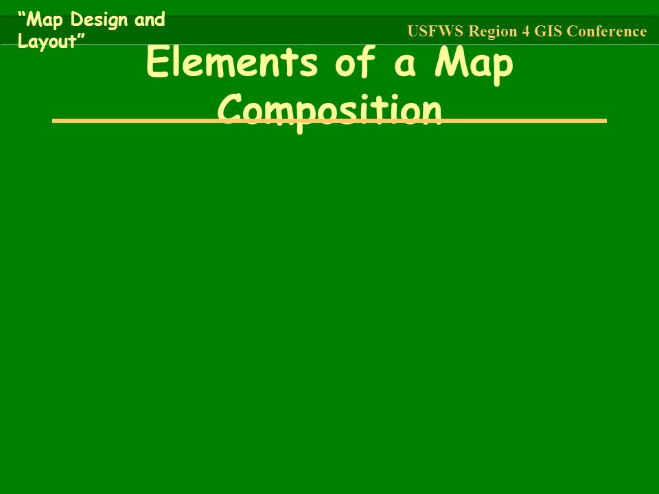 Elements of a Map Composition