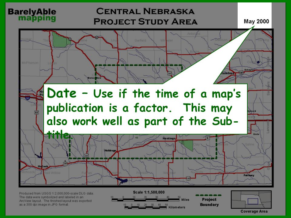 Date – Use if the time of a map's publication is a factor
