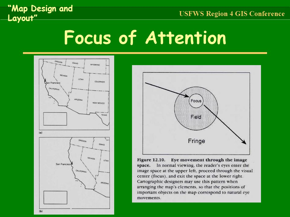Focus of Attention Map Design and Layout
