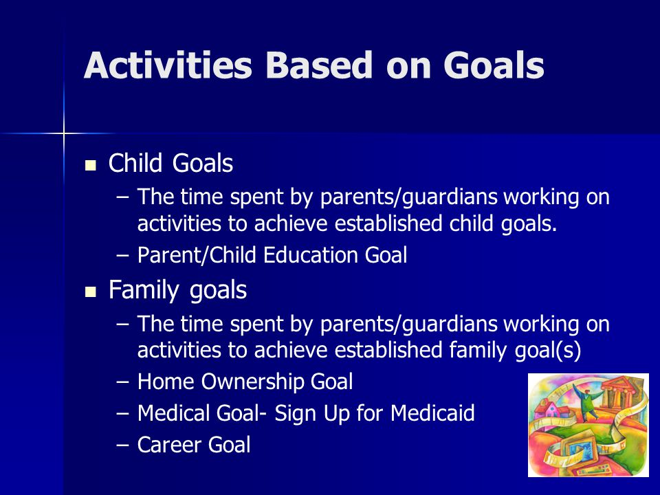Activities Based on Goals