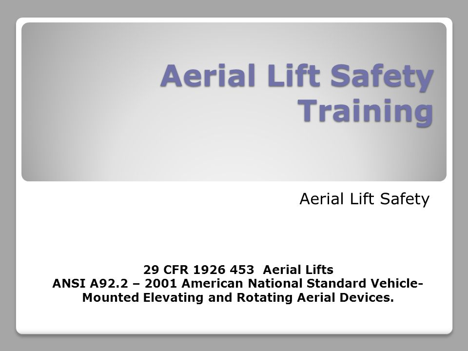 Aerial Lift Safety Training