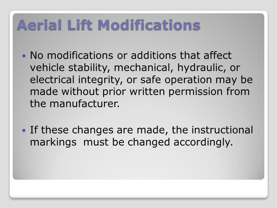 Aerial Lift Modifications