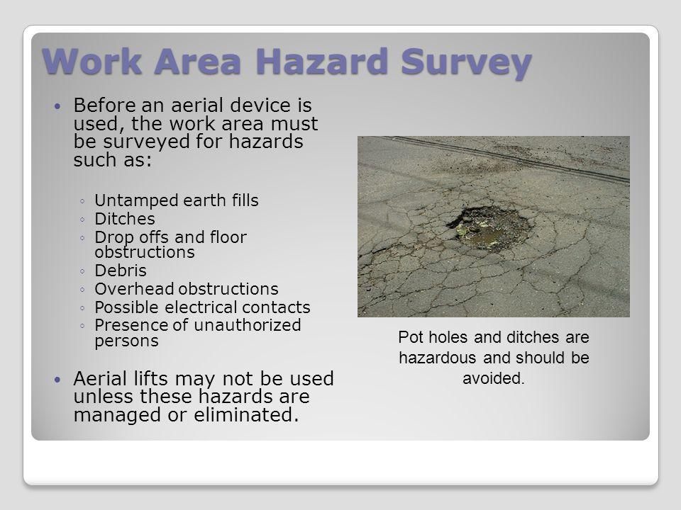 Work Area Hazard Survey