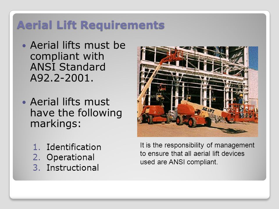 Aerial Lift Requirements