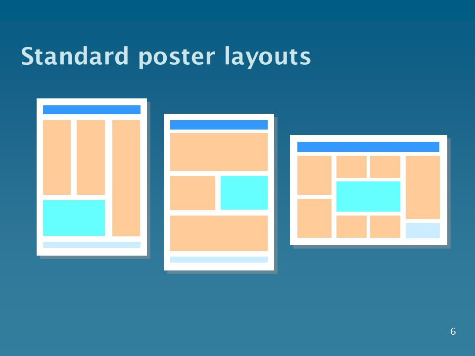 Standard poster layouts