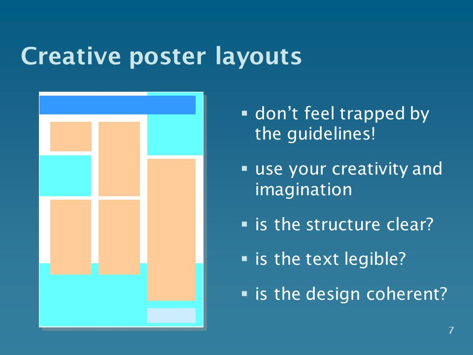 Creative poster layouts