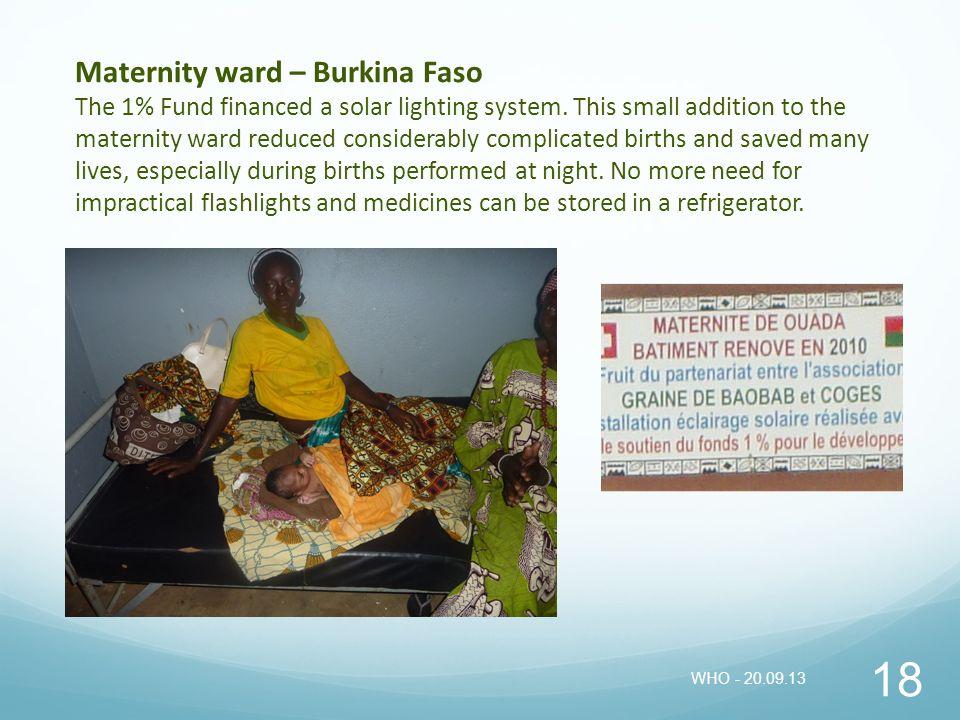 Maternity ward – Burkina Faso