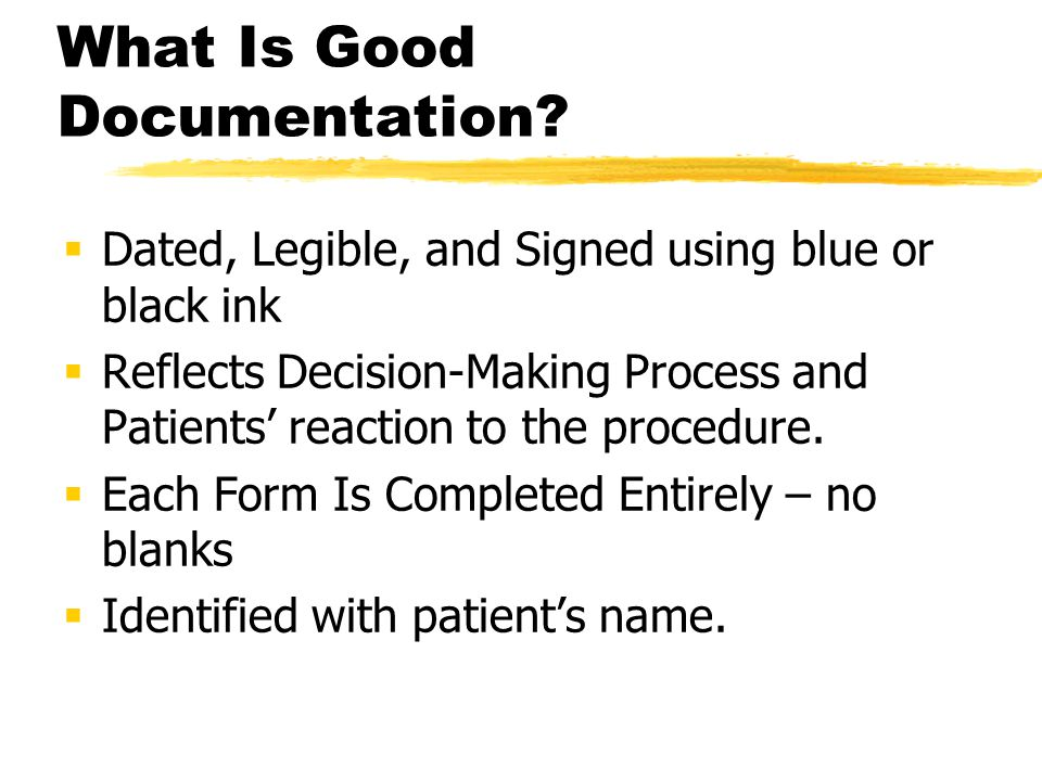 What Is Good Documentation