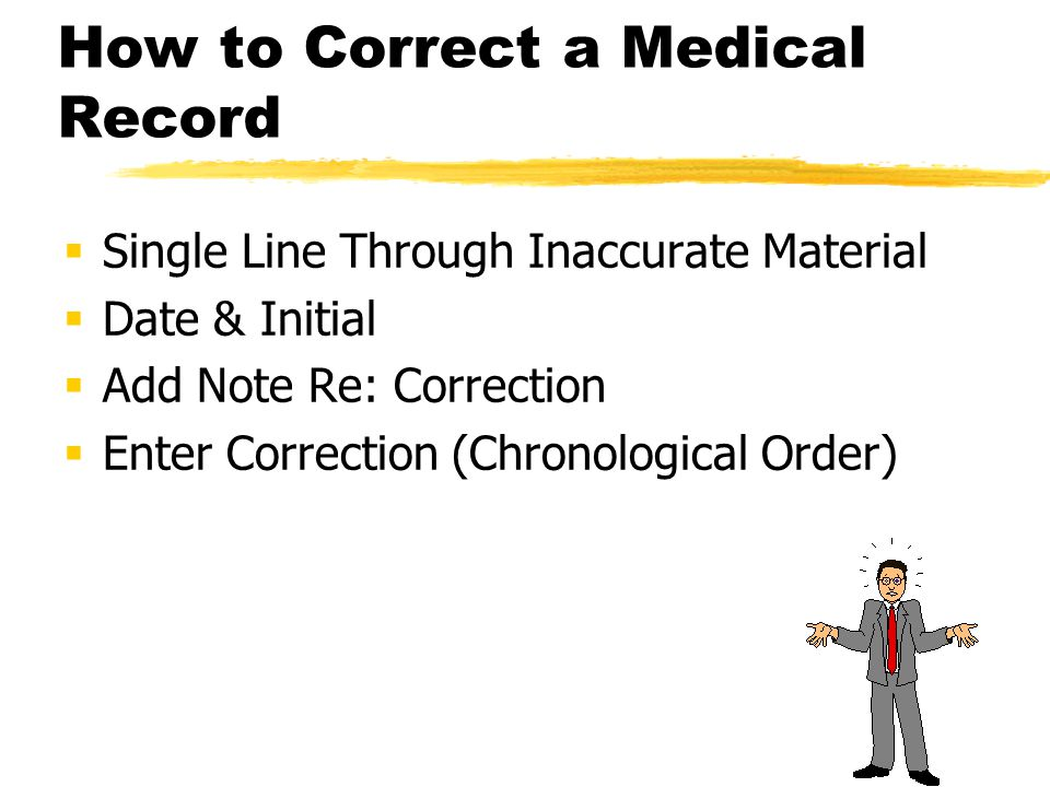 How to Correct a Medical Record