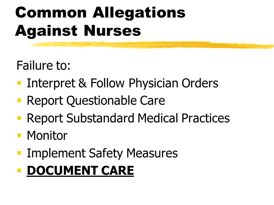 Common Allegations Against Nurses
