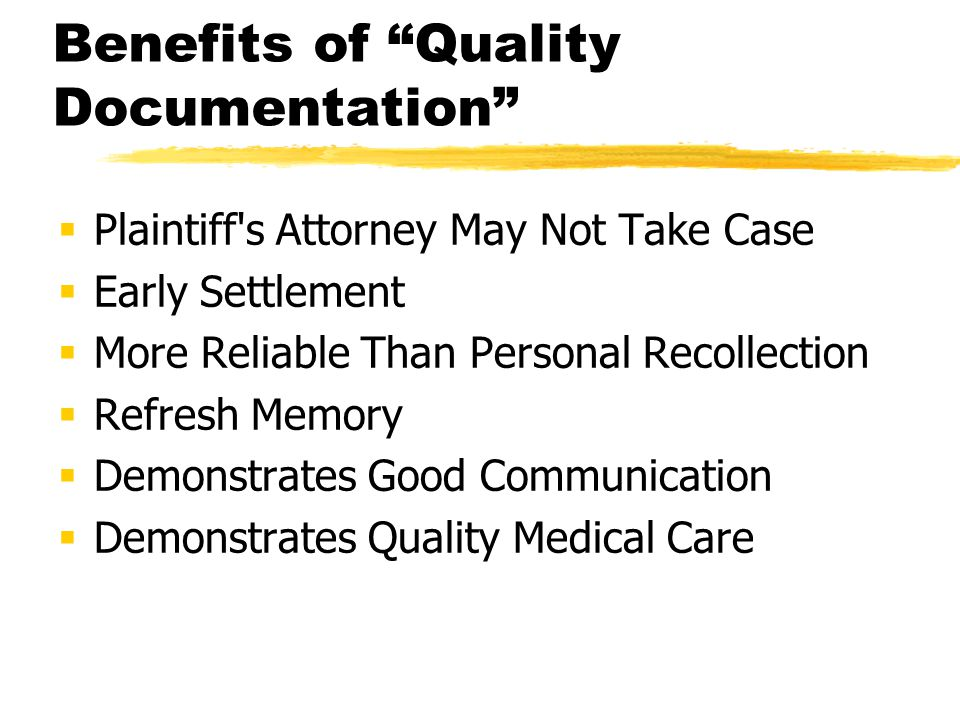 Benefits of Quality Documentation