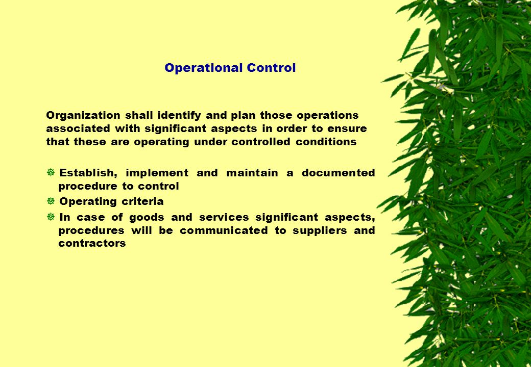 Operational Control