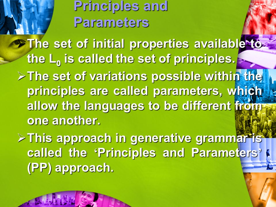 Principles and Parameters