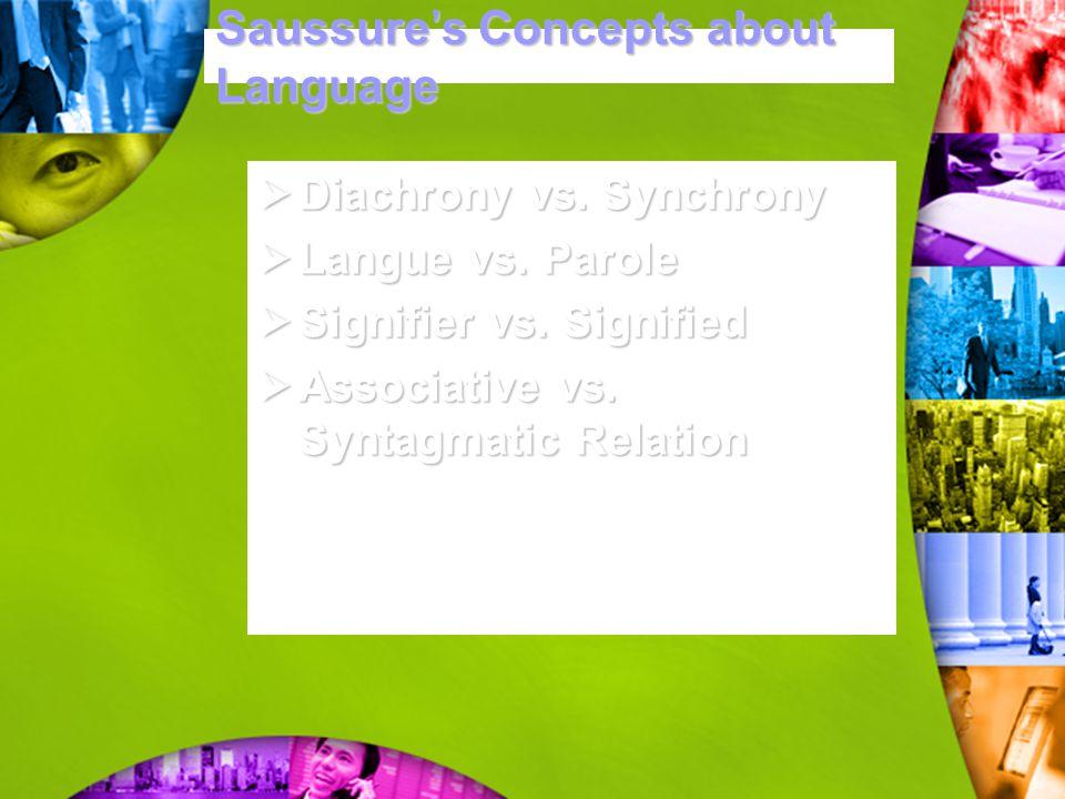 Saussure's Concepts about Language