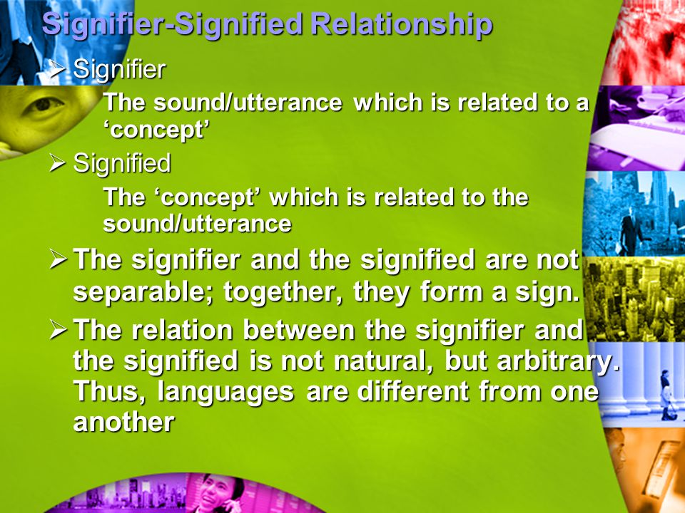 Signifier-Signified Relationship
