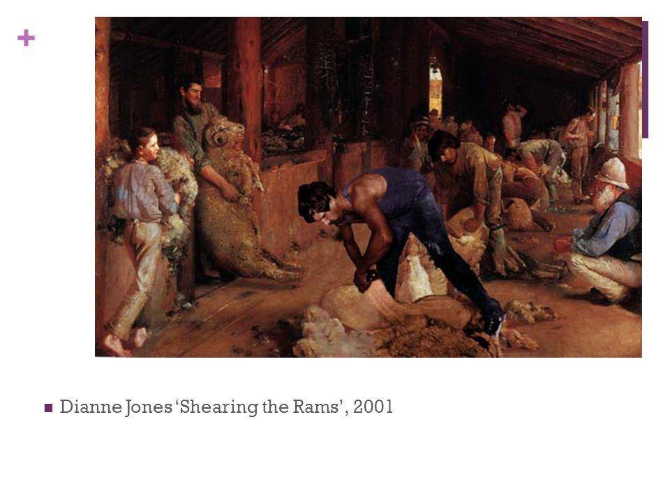 Dianne Jones 'Shearing the Rams', 2001