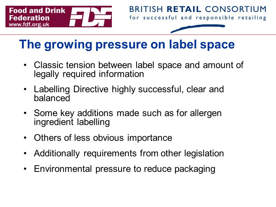 The growing pressure on label space
