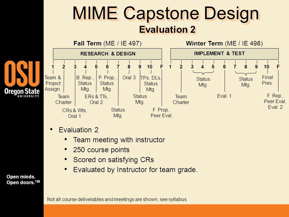 MIME Capstone Design Evaluation 2