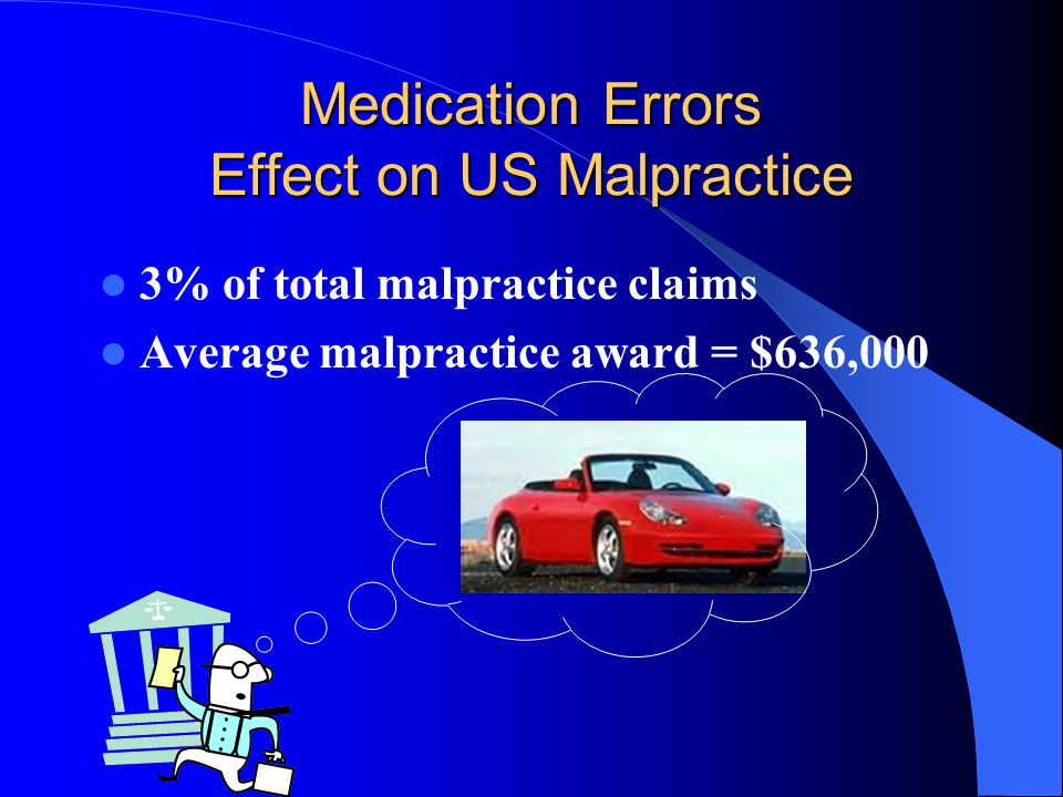 Medication Errors Effect on US Malpractice