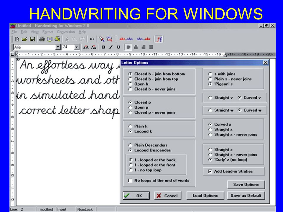 HANDWRITING FOR WINDOWS
