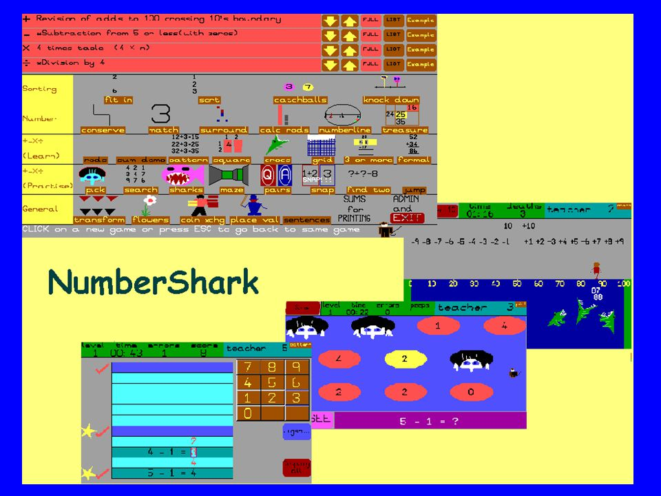 Number Shark (White Space) is a very popular highly, structured program , that appears in a games format to the children, but provides a fun way of doing daily work to raise maths skills.