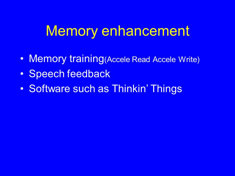 Memory enhancement Memory training(Accele Read Accele Write)
