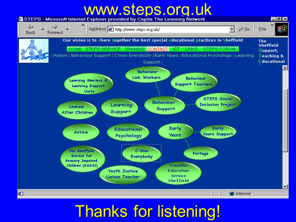 www.steps.org.uk Thanks for listening!