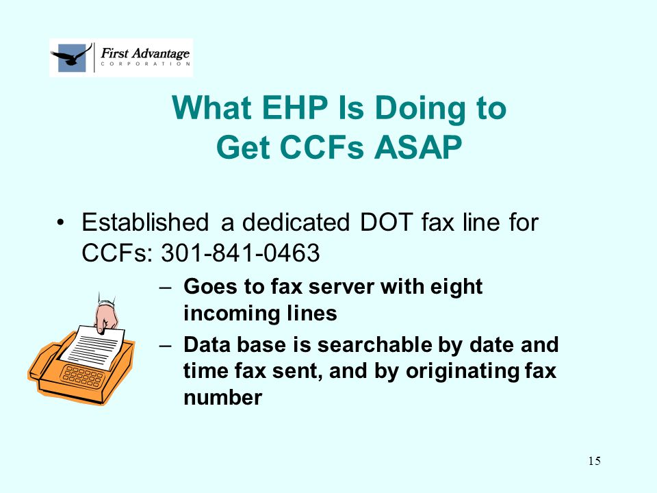What EHP Is Doing to Get CCFs ASAP