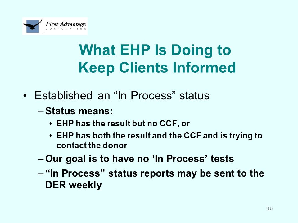 What EHP Is Doing to Keep Clients Informed