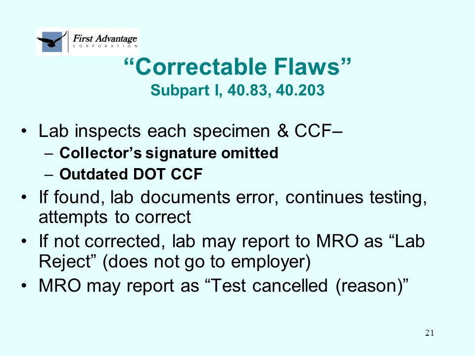 Correctable Flaws Subpart I, 40.83, 40.203