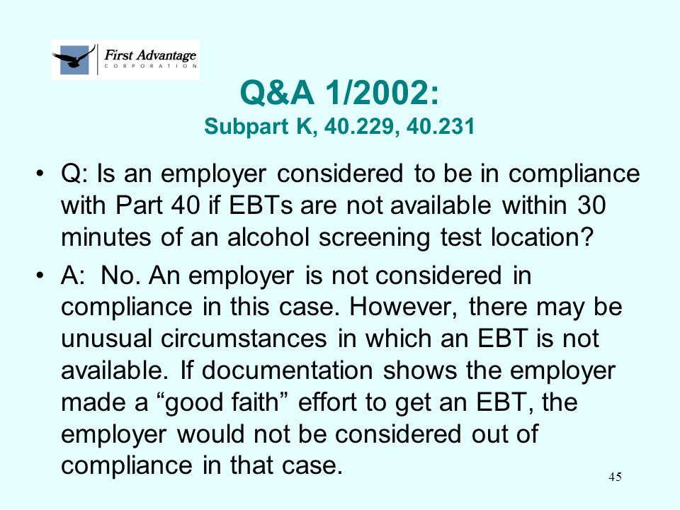 Q&A 1/2002: Subpart K, 40.229, 40.231