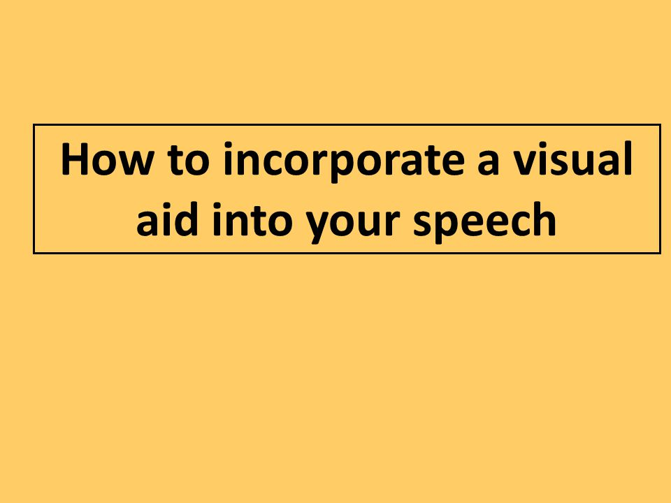 How to incorporate a visual aid into your speech