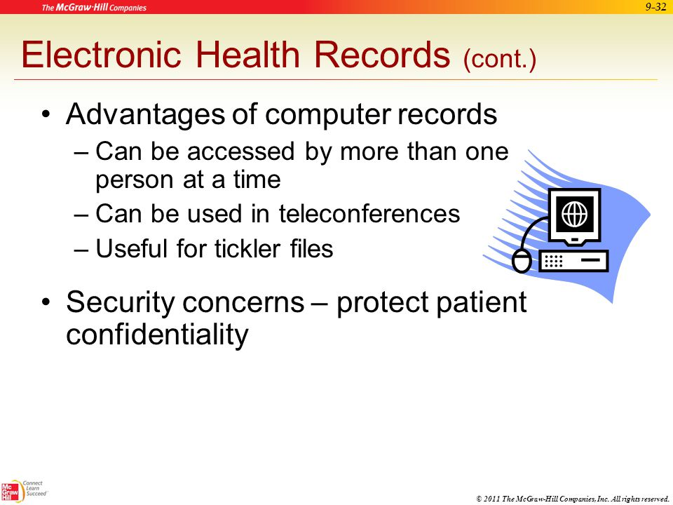 Electronic Health Records (cont.)