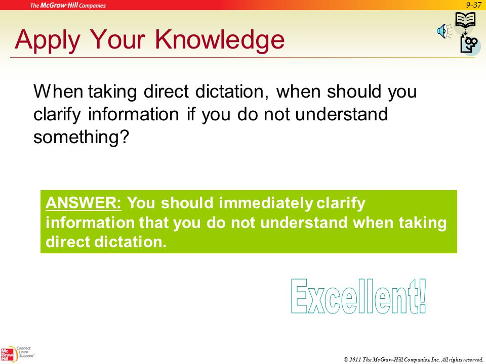 Apply Your Knowledge Excellent!