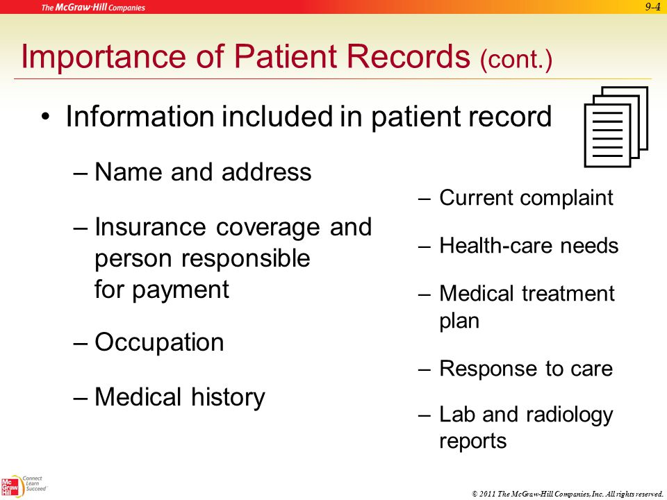 Importance of Patient Records (cont.)