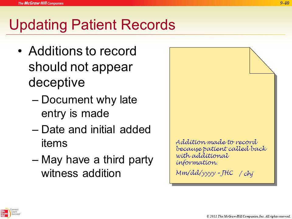 Updating Patient Records