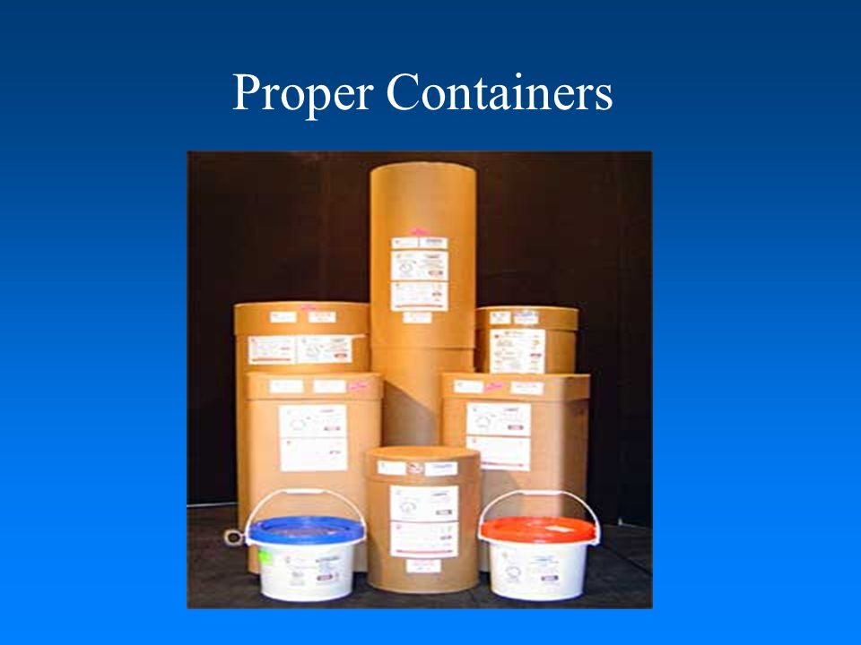Proper Containers