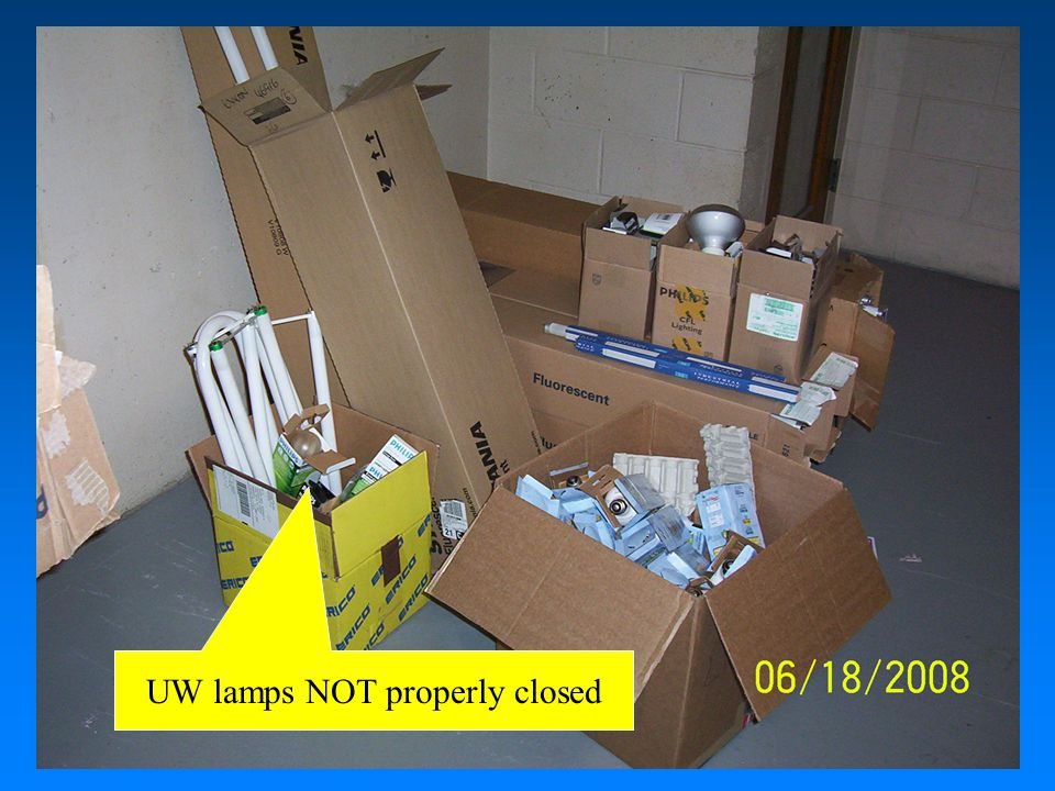UW lamps NOT properly closed