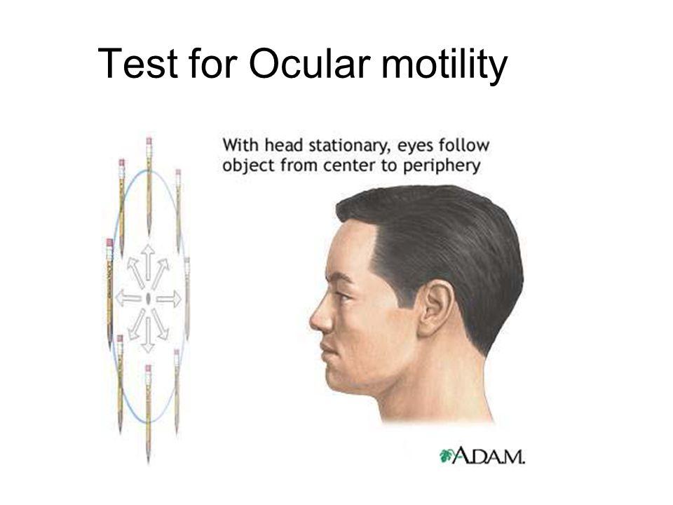 Test for Ocular motility