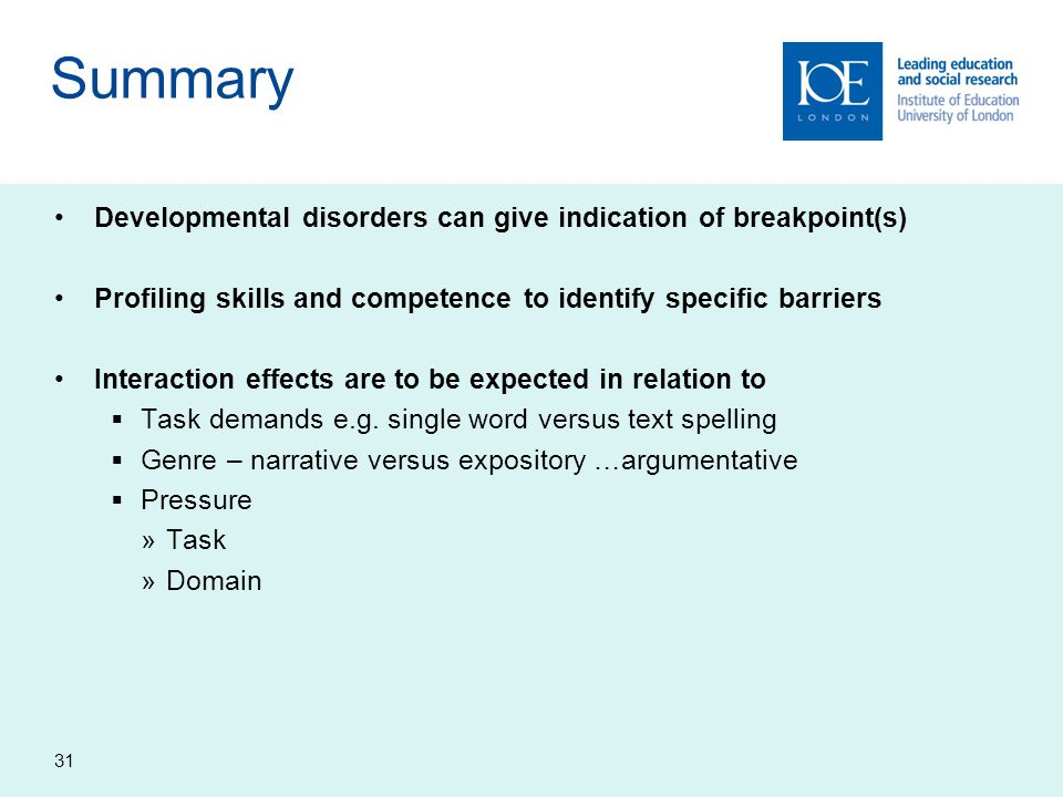 Summary Developmental disorders can give indication of breakpoint(s)