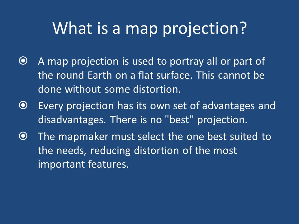 What is a map projection