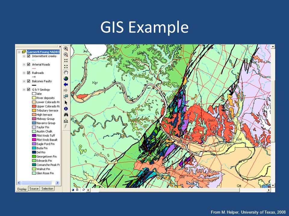 GIS Example From M. Helper, University of Texas, 2008