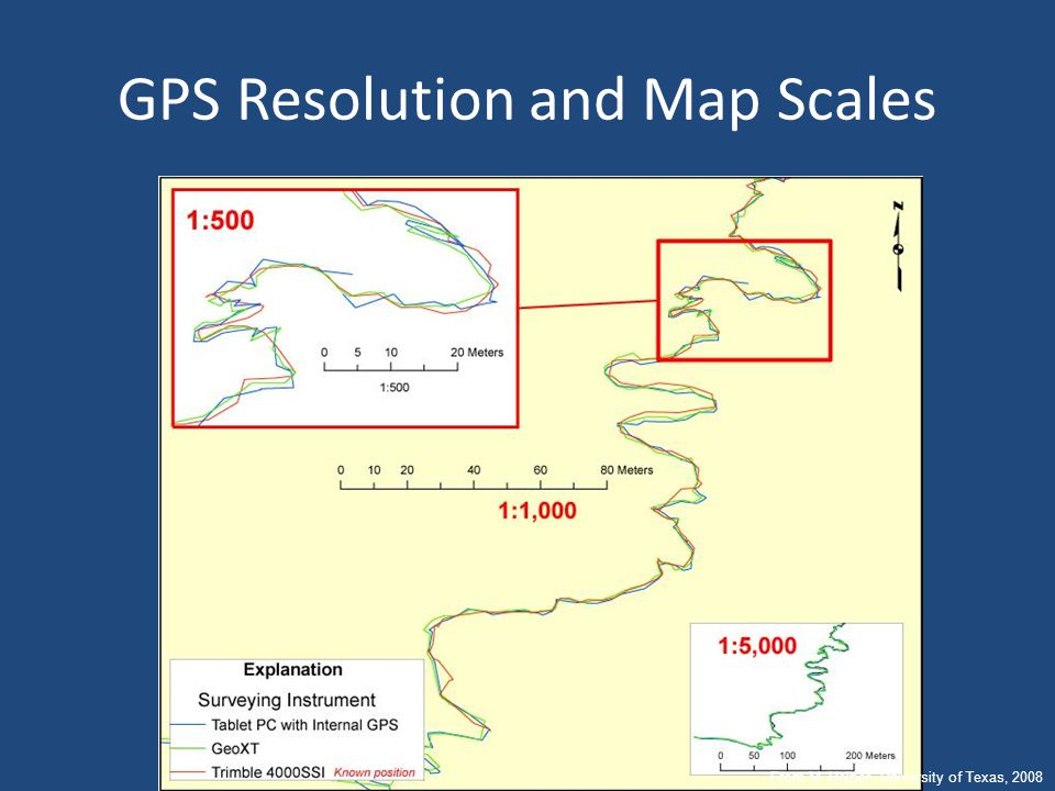 GPS Resolution and Map Scales