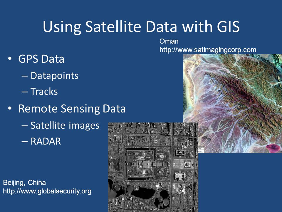Using Satellite Data with GIS
