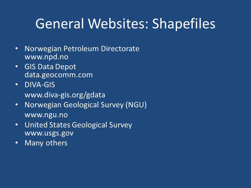 General Websites: Shapefiles