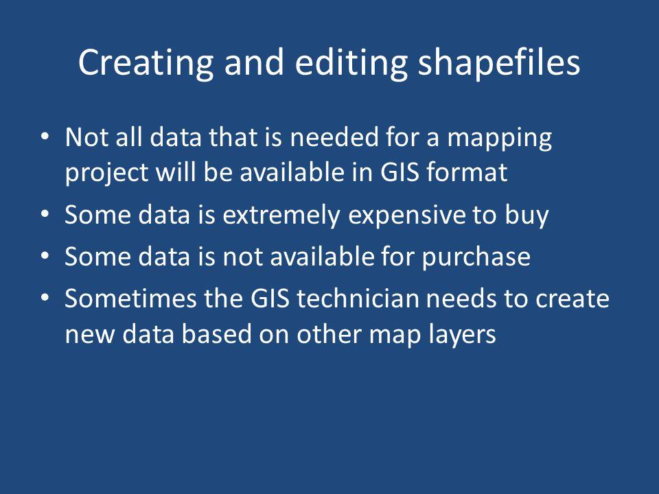 Creating and editing shapefiles