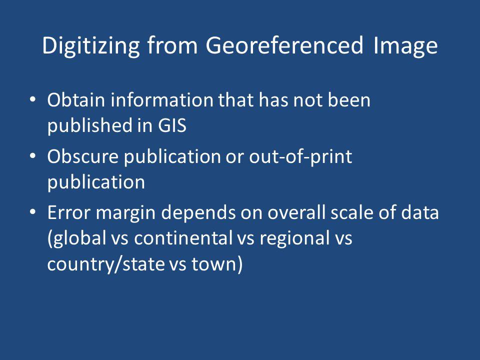 Digitizing from Georeferenced Image